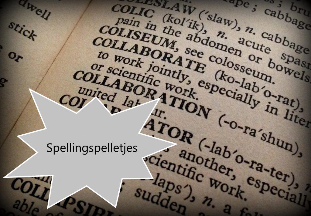Lesmateriaal spellingsspelletjes