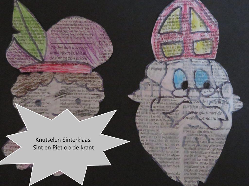 Knutselen: Sint en Piet op de krant