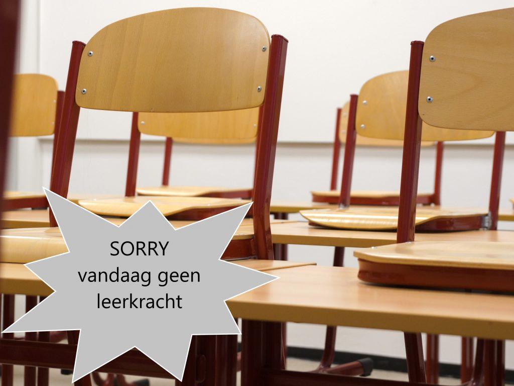 Sorry, vandaag geen leerkracht beschikbaar...