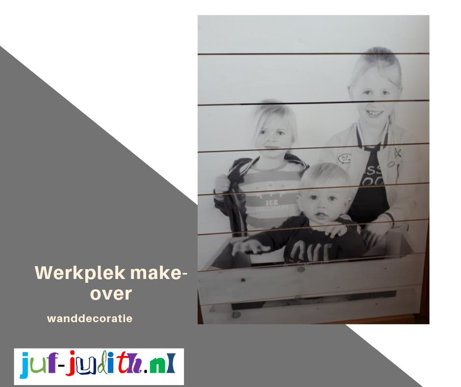 Werkplek make-over ..... wanddecoratie