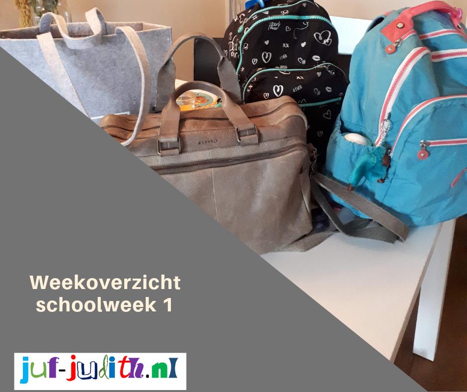 Weekoverzicht schoolweek 1