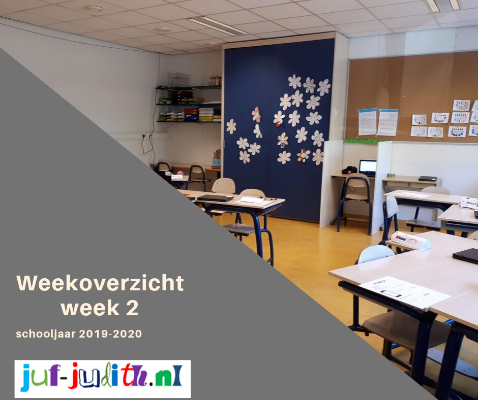 Weekoverzicht week 2, schooljaar 2019-2020