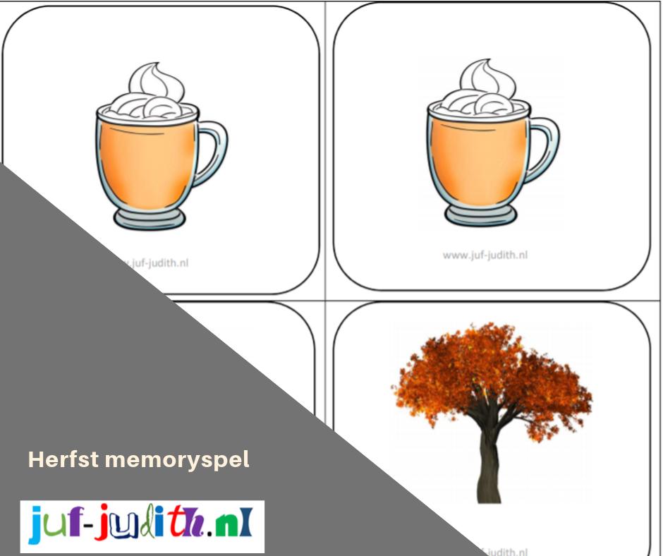 Herfst memoryspel