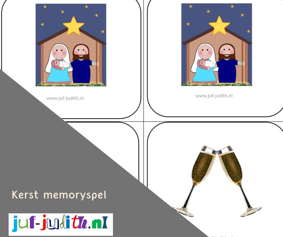 Kerst memoryspel