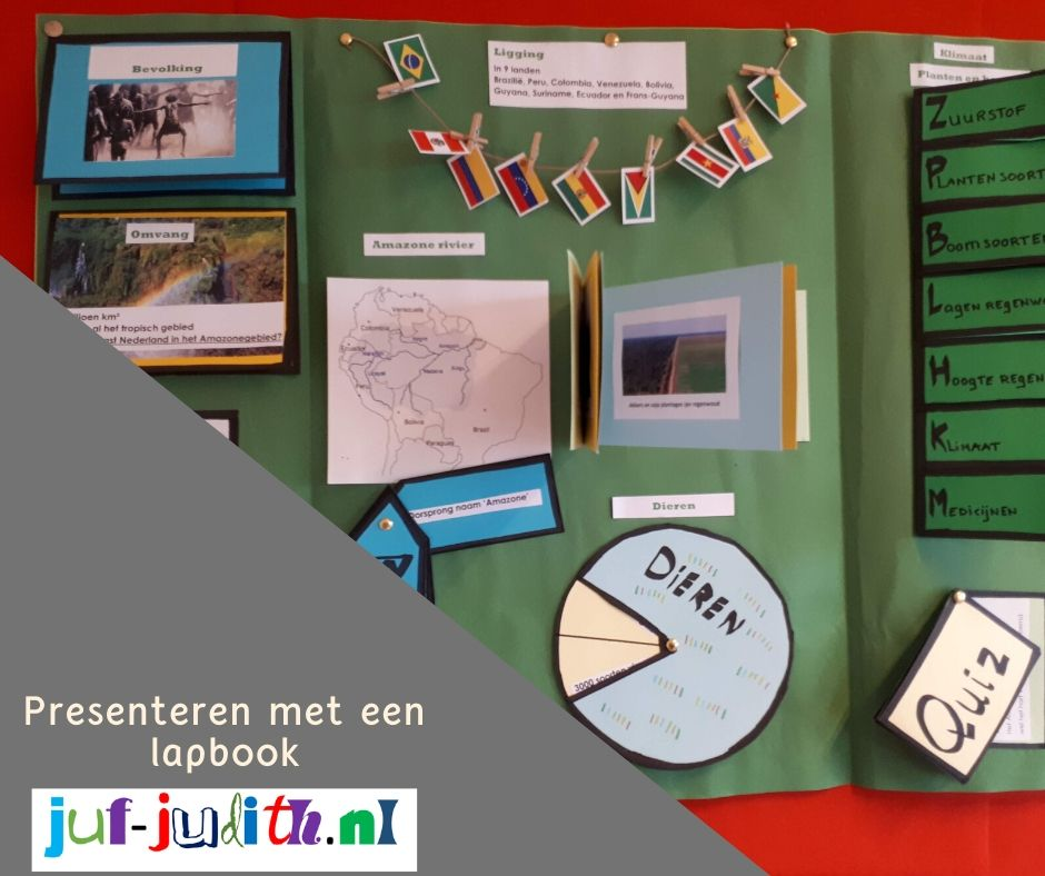 Presenteren met een lapbook