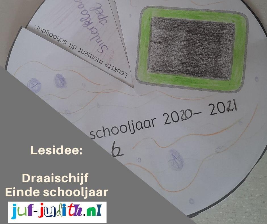 Einde schooljaar draaischijf