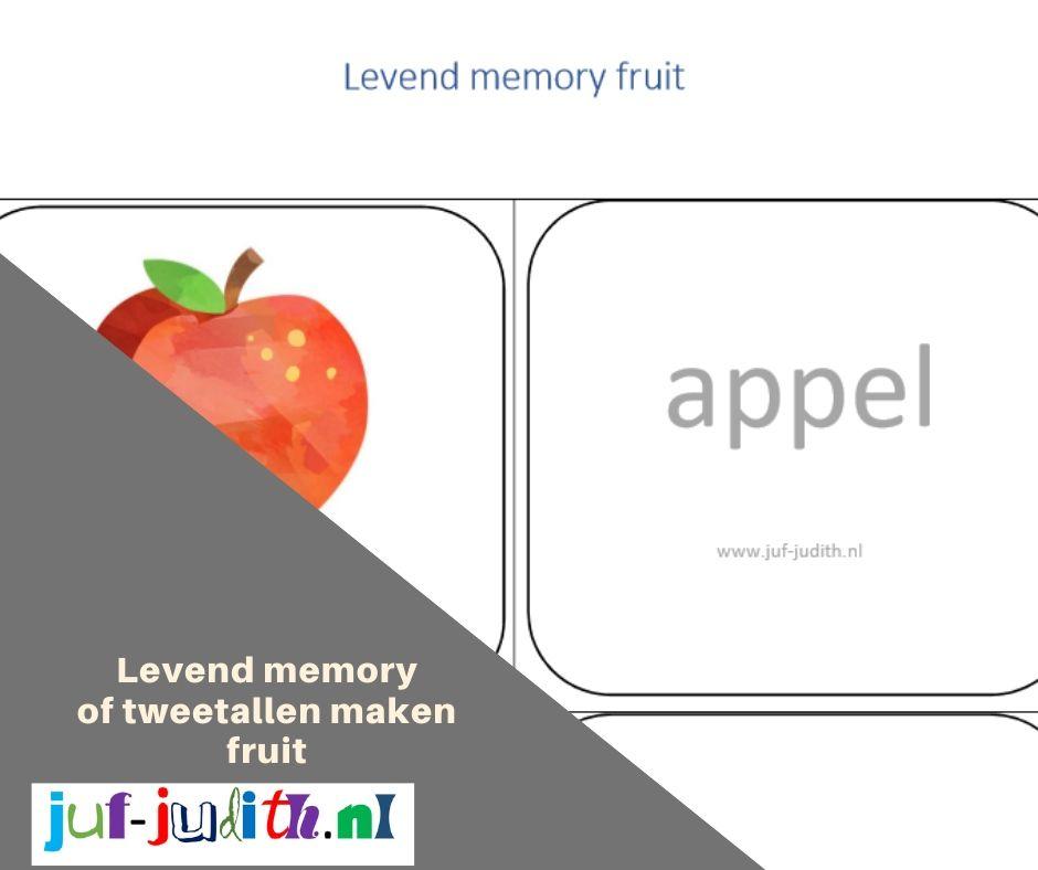 Tweetallen maken en memory fruit