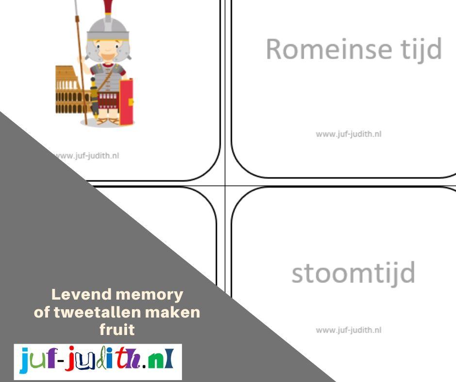 Tweetallen maken en levend memory personen uit de geschiedenis